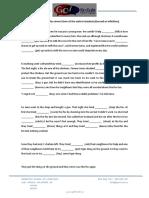 Gerund and Infinitive Text