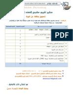 معايير تقييم مشروع فوتوشوب لل 9