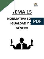 Tema 15. Normativa sobre igualdad de genero