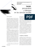 Aguirre, Antonio - Lacan. Psicoanalisis y La Lengua en Las Ciencias Sociales