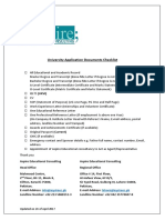 AEC Documents Checklist for Application