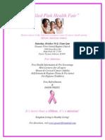 Tickled Pink Health Fair