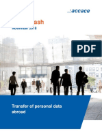 Transfer of personal data abroad