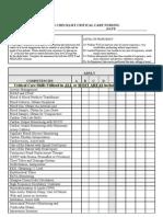 Skills Checklist-Critical Care