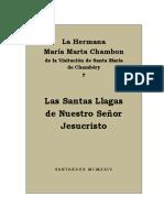 Hna María Marta Chambon Las Santas Llagas de Nuestro Señor Jesucristo