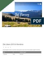 Public Holidays Romania 2019
