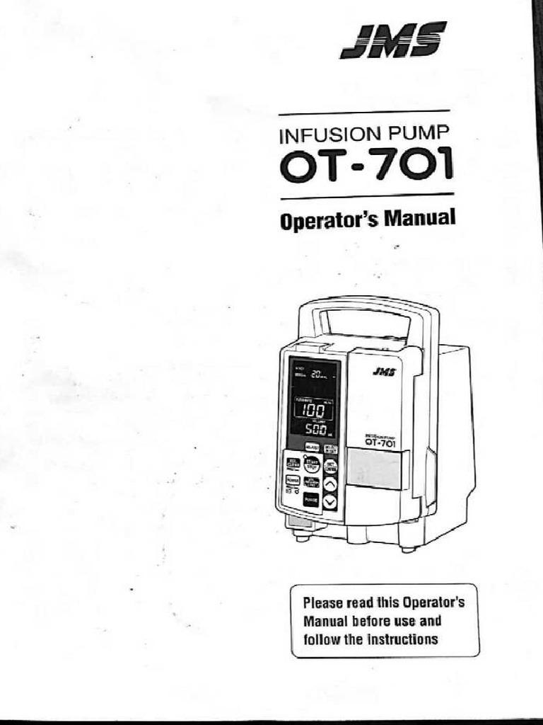 Manual usuario bomba infusión