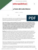 018 Dentro y Fuera Del Cubo Blanco – [Esferapública]