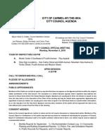 Agenda Special Meeting 11-05-18