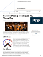 7 Stereo Miking Techniques You Should Try _ Sweetwater