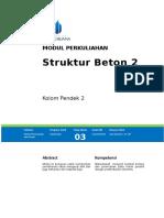 Modul Struktur Beton II [TM3]