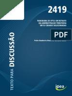 Panorama Do IPTU Um Retrato Da Administração Tributária Em 53 Cidades Selecionadas