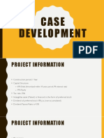Case Development Investment Analysis