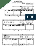 an die musik  c major