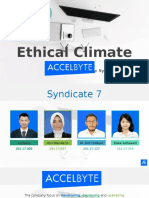 Ethical Climate