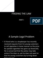 Lecture 3 Finding the Law
