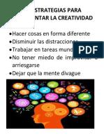 Actividad Conceptos Relacionados Con La Creatividad