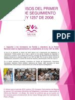 Compromisos Del Primer Seguimiento de La Ley 1257 de 2008 (Actualizado). (1)
