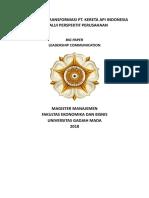 Tugas Kelompok LC - Managing Change PT KAI (Final)