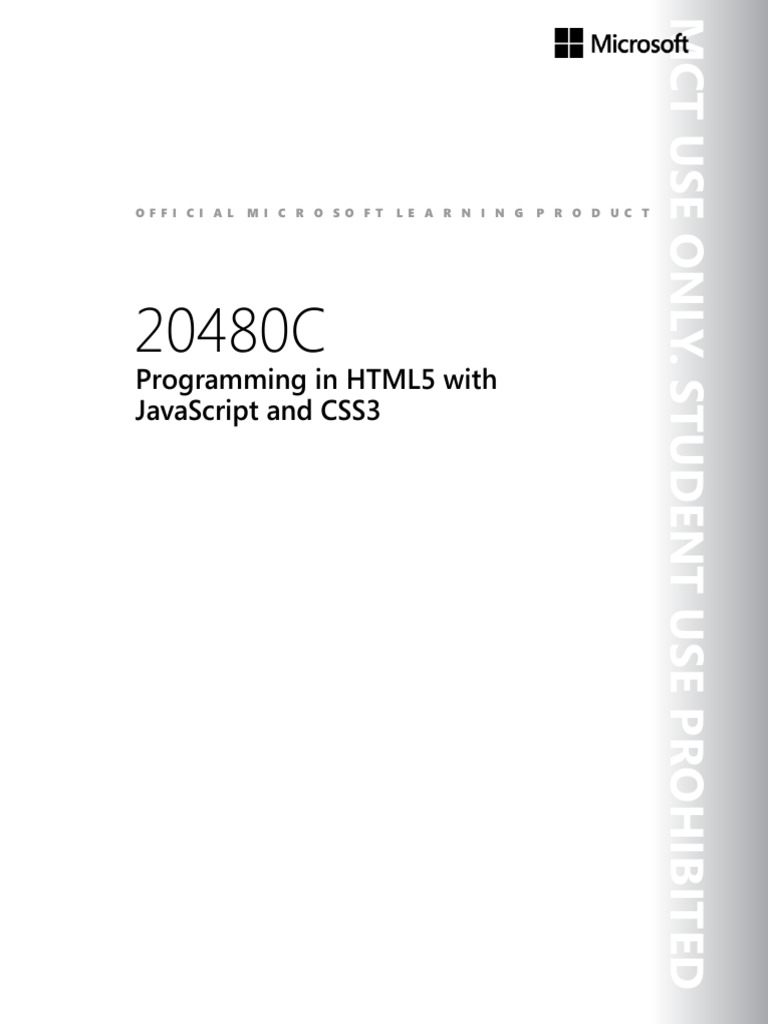 Programming In Html5 With Javascript And Css3: Offi Ci Al Mi C R O