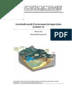 Geoteknik Untuk an Jaringan Jalan Bahan Ajar