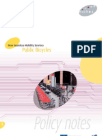 Public Bicycles Policy Notes