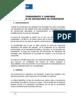 Guía de Mantenimiento y Limpieza Pavimentos de Adoquines de Hormigon 160113
