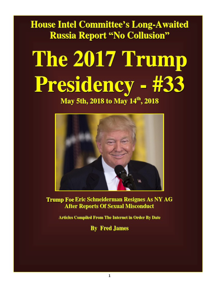 Trump Presidency 33 - May 5th, 2018 to May 14th, 2018 | Jeff