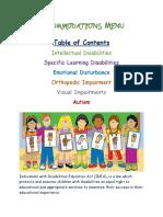 accommodations menu artifact standard2- learning differences