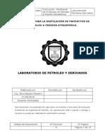 Destilación de Productos de Petroleo a Presión Atmosferica