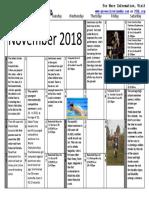 Sports Calendar November 2018