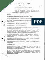 Resolución del directorio del Banco Central de Bolivia (BCB)