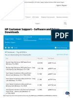 HP Drivers List