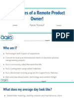 Challenges of a Remote Product Owner by Faiza Yousuf