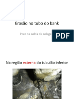 Caldeiras Erosão No Tubo Do Bank