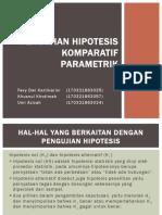 Pengujian Hipotesis Komparatif Parametrik