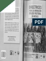 Directrices para la Animación Bíblica Pastoral en México; CEM, Florencio Armando Colín Cruz
