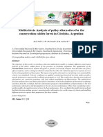 Multicriteria Analysis of policy alternatives for the conservation caldén forest in Córdoba, Argentina