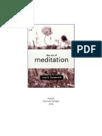 A ARTE DA MEDITAÇÃO -JOEL GOLDSMITH