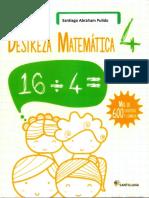 Cuaderno Destreza Matematica 4to Grado Santillana