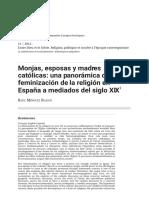 Monjas, Esposas y Madres Católicas Una Panorámica de La Feminización de La Religión en España a Mediados Del Siglo XIX