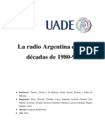 Radio Argentina - Resúmen