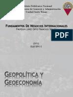 Geopolitica, Geoeconomia, Entorno Politico y Legal