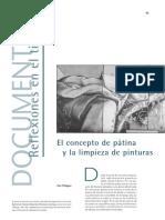 PHILIPPOT, Paul - El Concepto de Pátina y La Limpieza de Pinturas