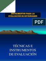 Instrumentos de Eval Estandares
