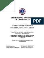 Silabo Gestión Pedagógica Marzo 2019