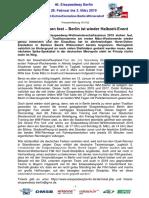 Eisspeedway Berlin 2019, Pressemitteilung 181102