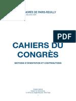 Cahiers du congrès 2018