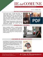 Notizie Dal Comune di Borgomanero del 31 Ottobre 2018