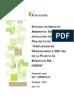 EIAsd Ampliacion de Da -Crein -Cap 08 PLAN de CIERRE